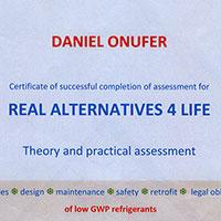 Certifikát Real alternatives 4 life